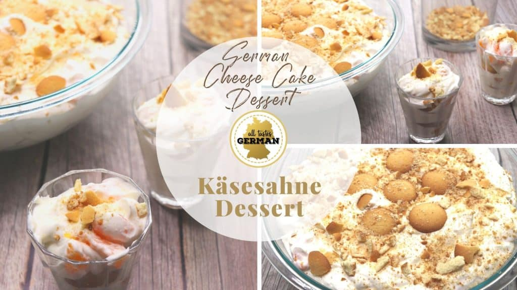 German Käsesahne Dessert Collage