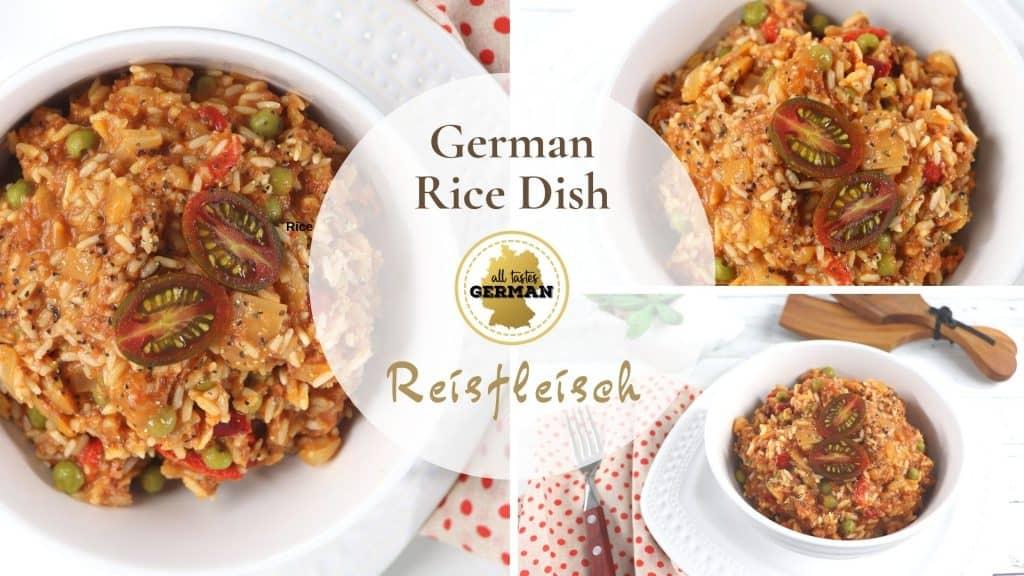 German Rice Dish Collage
