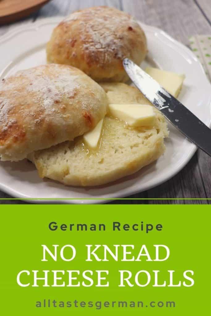 German No Knead Rolls Pin