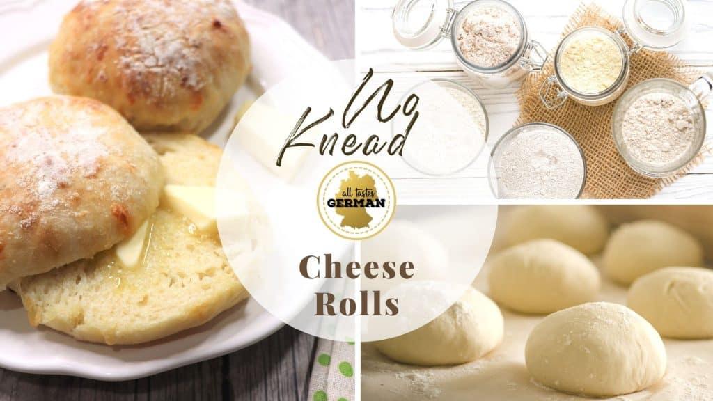 No Knead Cheese Rolls