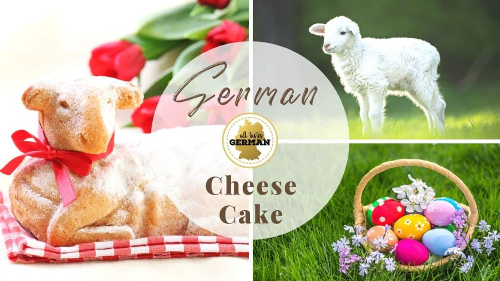 Easter Lamb Cake Collage