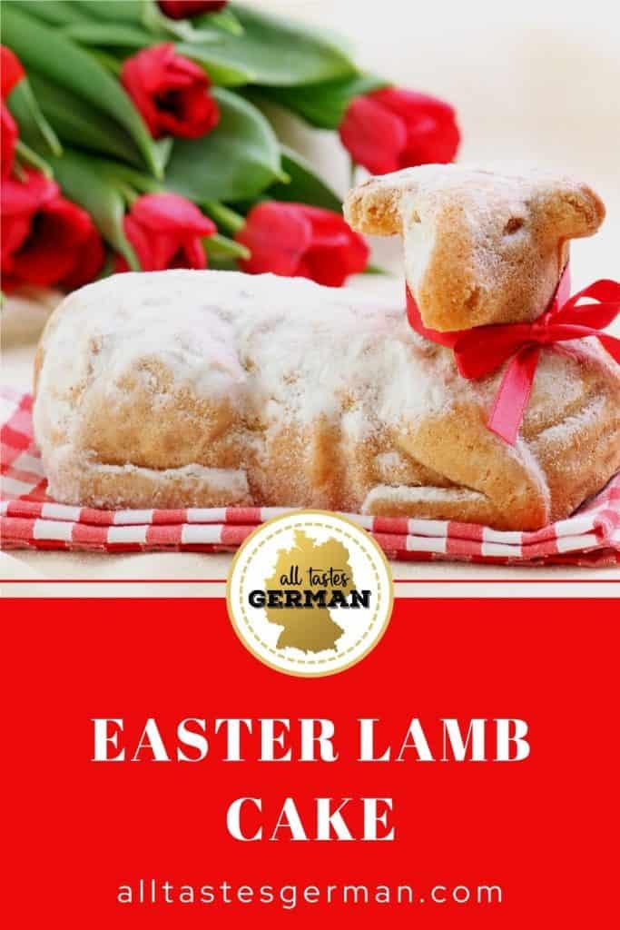 German Easter Lamb Cake Pin