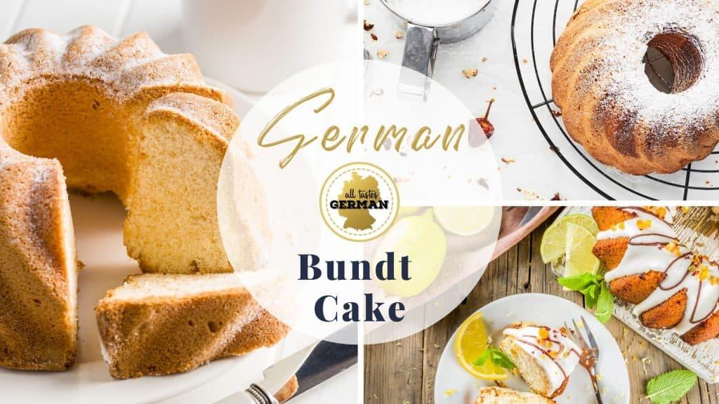 German Bundt Cake Collage