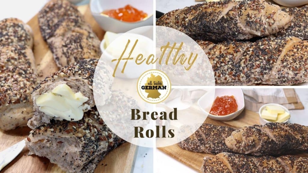 Healthy Bread Rolls Collage