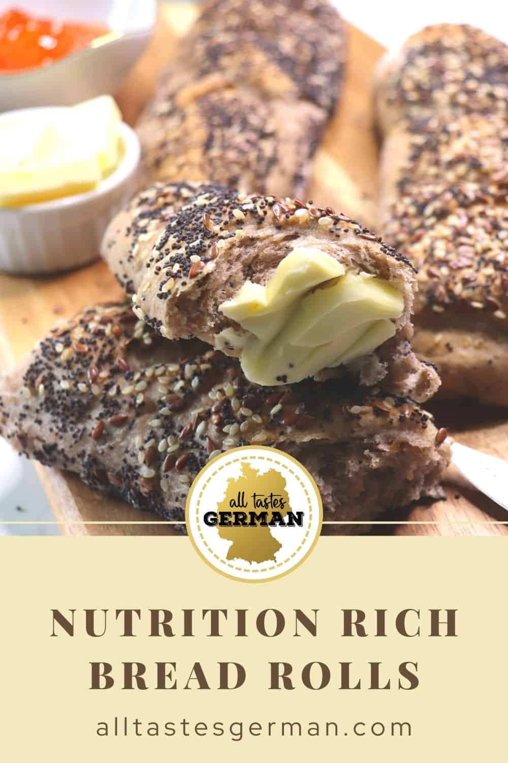 Healthy Bread Rolls with Seeds & Nuts