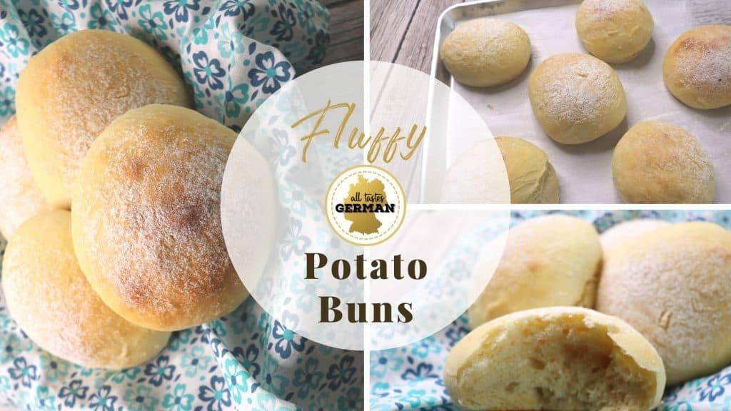 Potato Bread Roll Collage