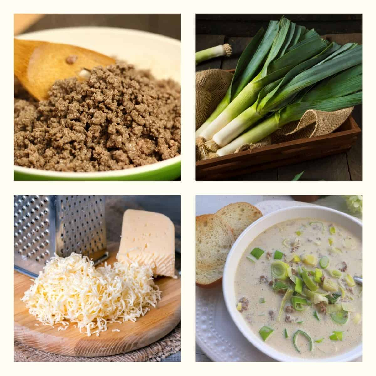 German Leek Cheese Soup