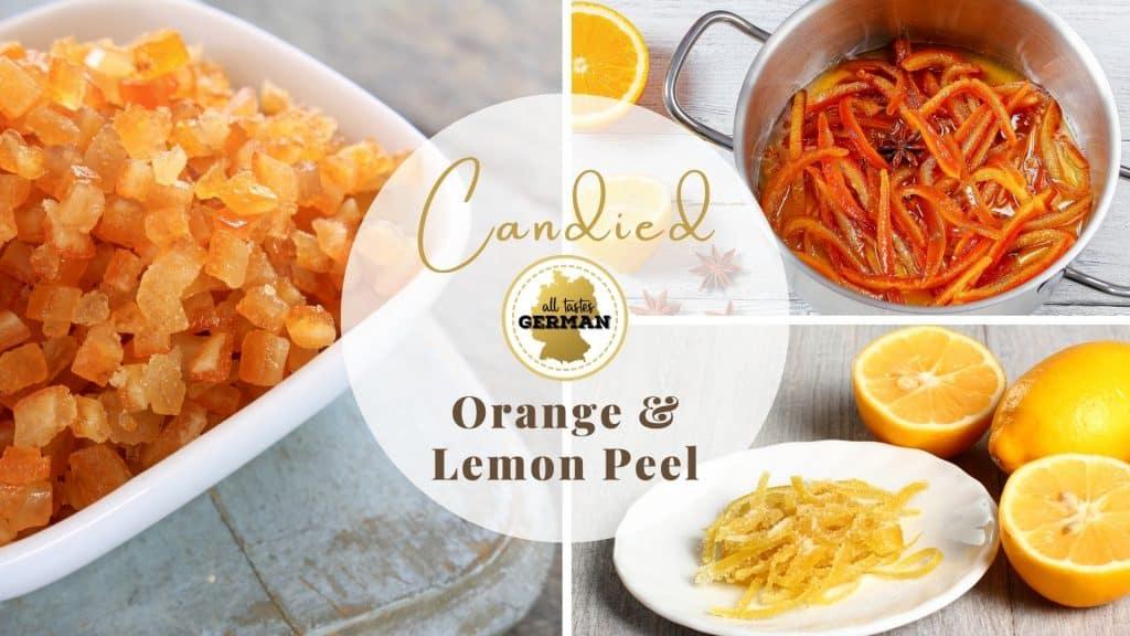 Candied Orange Lemon Peel