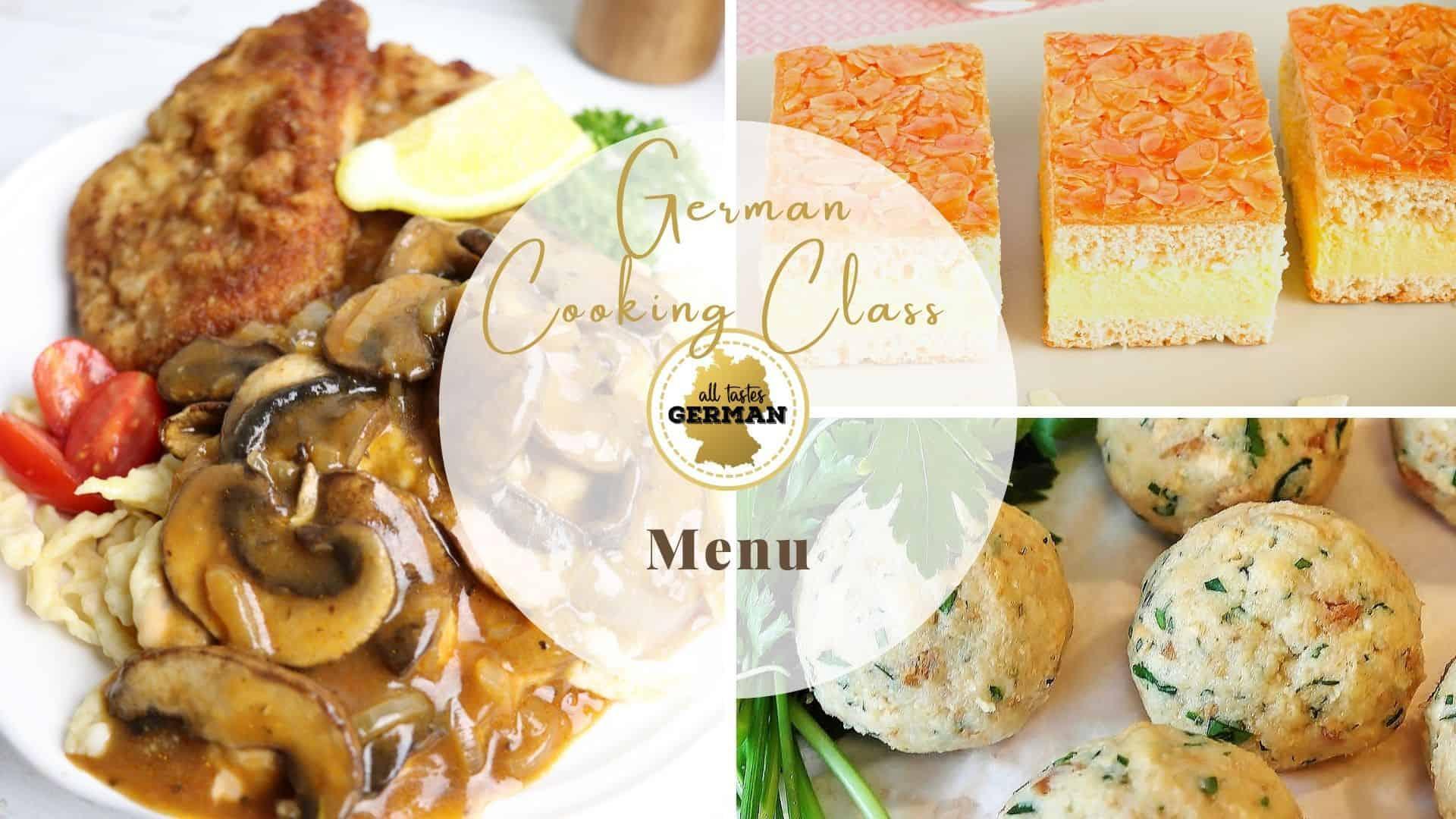 Cooking Class Menu Introduction