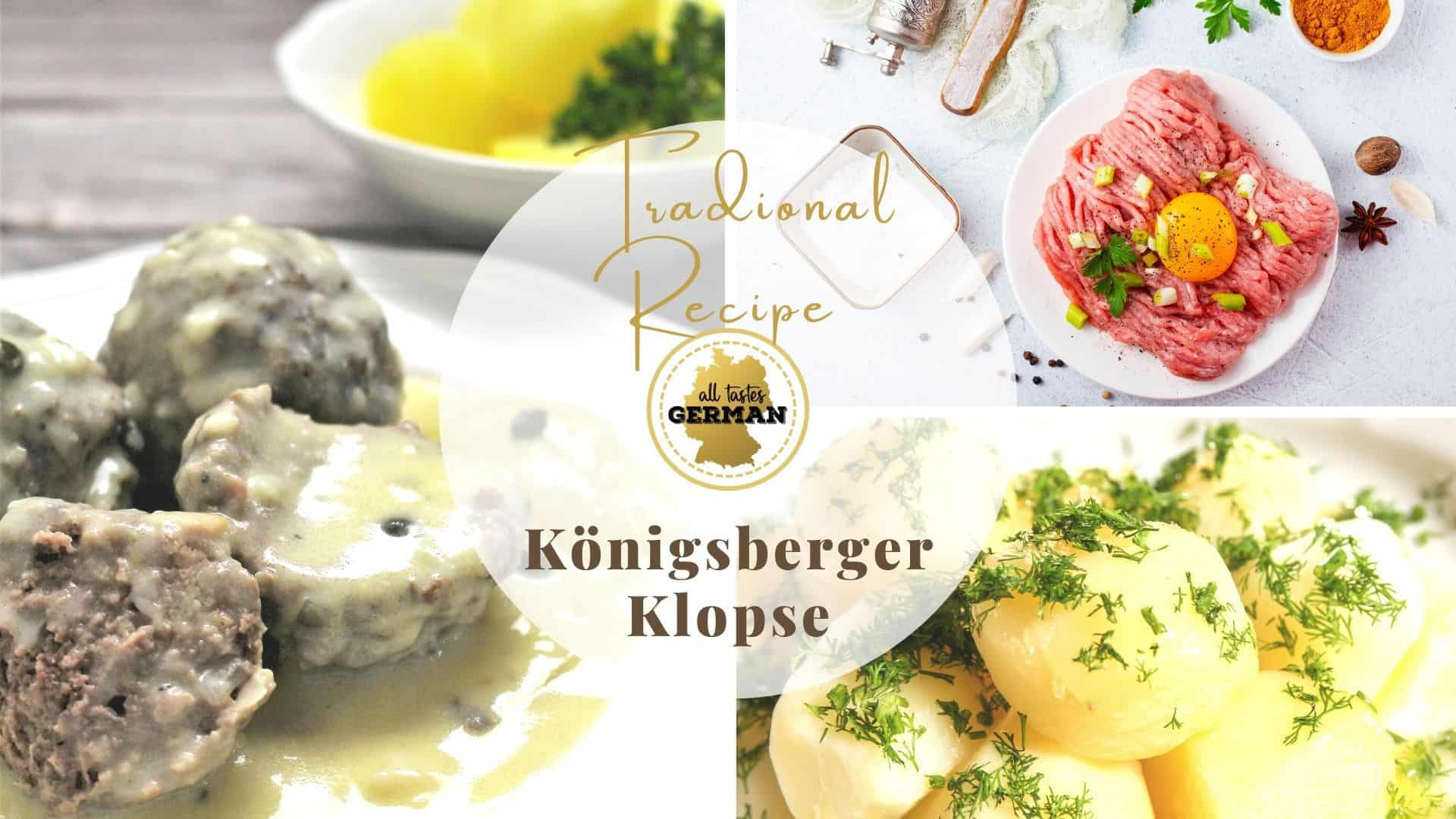Königsberger Klopse ingredients and side dish