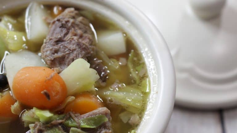 German Cabbage and Beef Soup